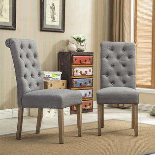 Roundhill Furniture Tufted Parsons Dining Chairs Sears Marketplace