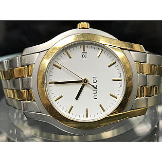 774e47c65e4 Gucci 5500 Men s Stainless Steel Gold Plated Watch - Sears Marketplace