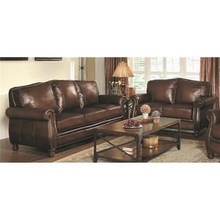 Coaster Montbrook 2pc Leather Sofa Set