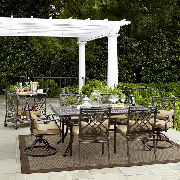 Grand Resort L Dn1842sal D Villa Park 7 Pc Outdoor Dining Set