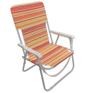 Essential Garden Fabric Folding Beach Chair Orange Limited Availability