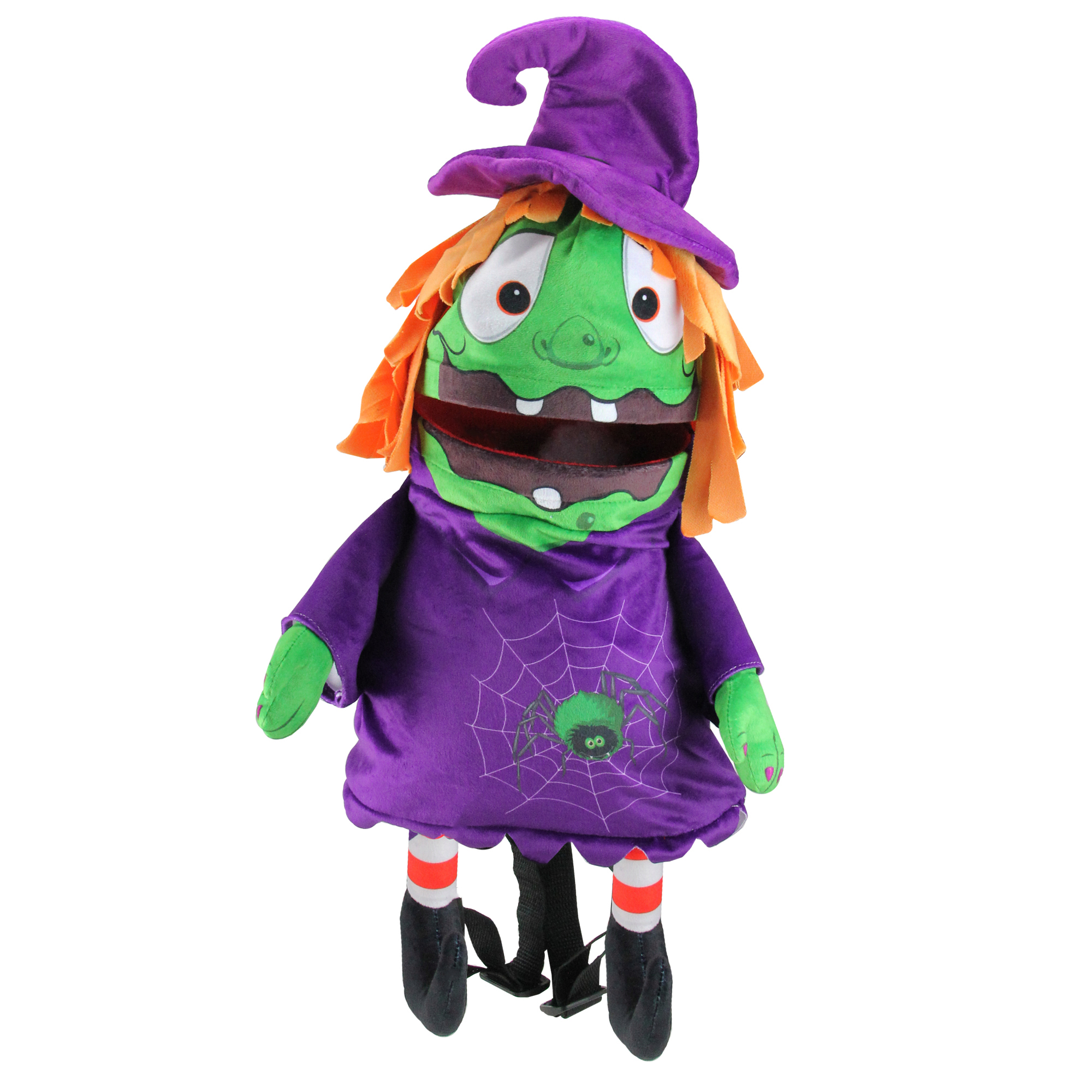 "Image of ""waterbury garment 23"""" Musical Animated Witch Children's Halloween Trick or Treat Bag"""
