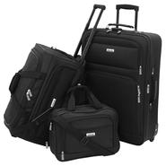 Forecast Catalina 3 Piece Luggage Set - Black at Kmart.com