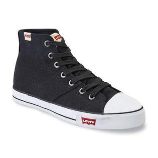 Levi S Men S Hamilton Black White High Top Fashion Sneaker