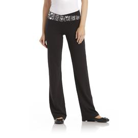 Joe Boxer Fold-Over Bootcut Yoga Pants - Love, Live at Sears.com