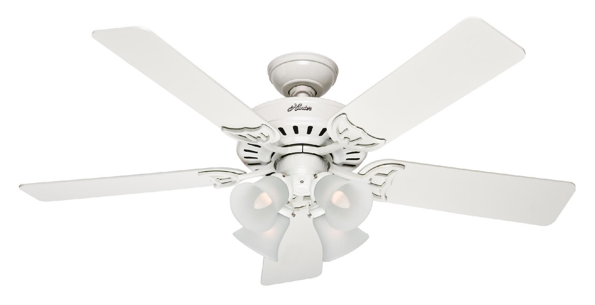 Hunter Studio Series (2013) Ceiling Fan Model HU-53062 in White
