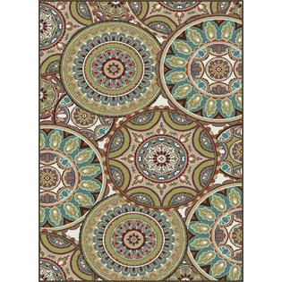 Tayse Rugs Deco 1018 Multi Round Transitional 8x10 Area Rug