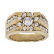 Gold Over Silver CZ Mens Ring at Kmart.com