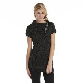 Bongo Junior's Asymmetric Tunic Sweater - Metallic at Sears.com
