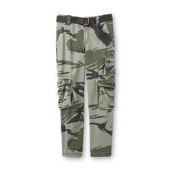 Route 66 Boy's Cargo Pants & Canvas Belt - Camo at Kmart.com