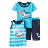 Boys Rock Infant & Toddler Boy's Tank Top, T-Shirt & Swim Trunks Set - Shark at Sears.com