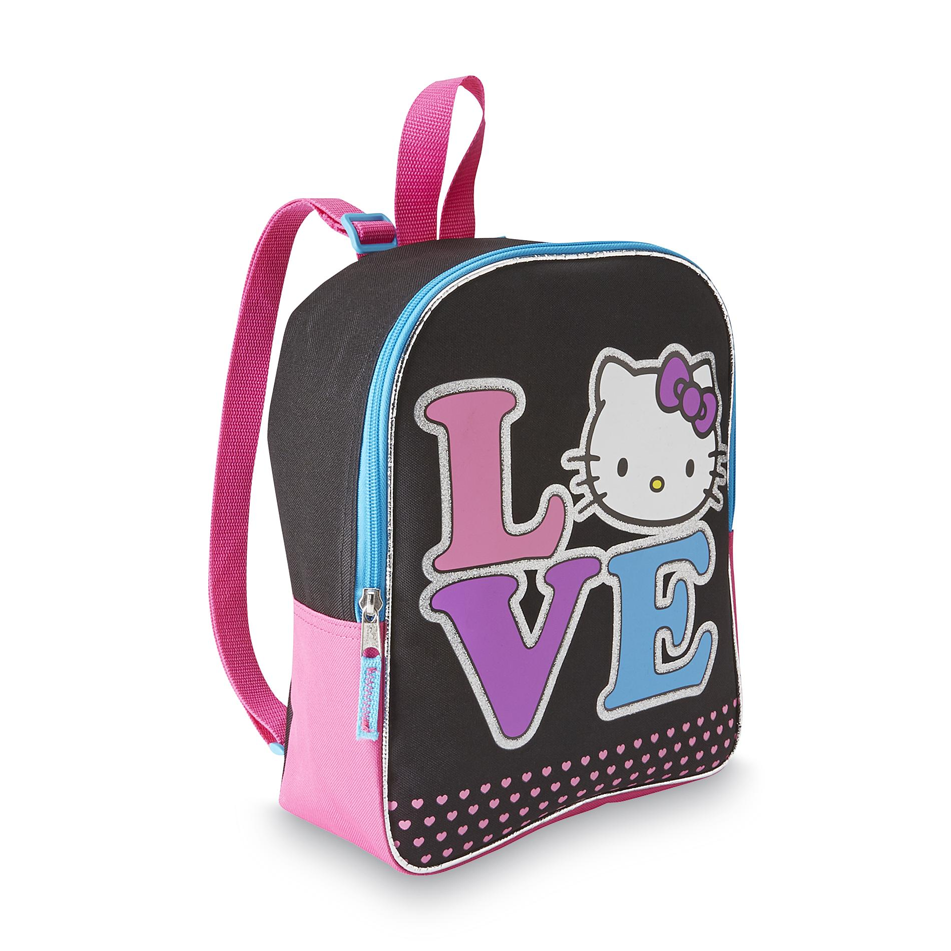 Hello Kitty Girl's Canvas Backpack - Love