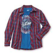 Route 66 Boy's Long-Sleeve Button Shirt & T-Shirt - Motorcycle at Kmart.com