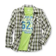 Route 66 Boy's Long-Sleeve Button Shirt & T-Shirt - Wilderness Club at Kmart.com