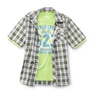 Route 66 Boy's Short-Sleeve Button Shirt & T-Shirt - Wilderness Club at Kmart.com