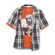 Route 66 Boy's Short-Sleeve Button Shirt & T-Shirt - Guitar Bear at Kmart.com