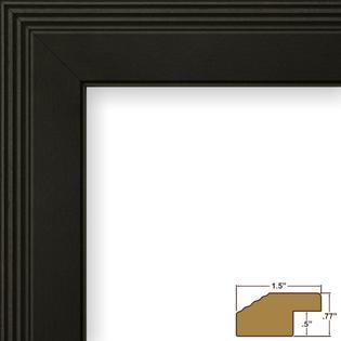 craig frames inc 12x15 custom 127 wide complete black picture frame fw4bk1