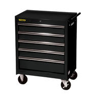 "Stanley 27"" 5-Drawer Ball Bearing Slides Roller Cabinet, Black, PLUS FREE SHIPPING at Kmart.com"