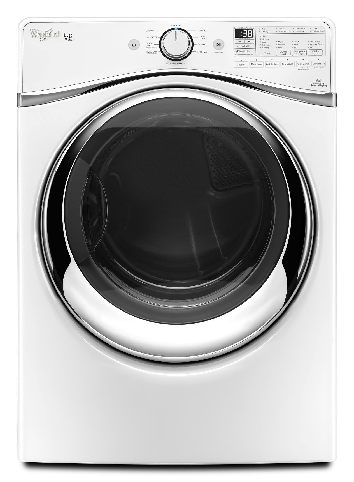 Whirlpool 7.4 cu. ft. Duet® Electric Dryer w/ SilentSteel™ Drum - White