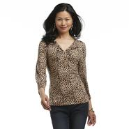 Jaclyn Smith Women's Knot-Detail Top - Leopard at Kmart.com