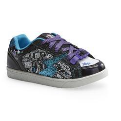 Monster High Girl's Ghoulfriends Black/Blue Light-Up Shoe