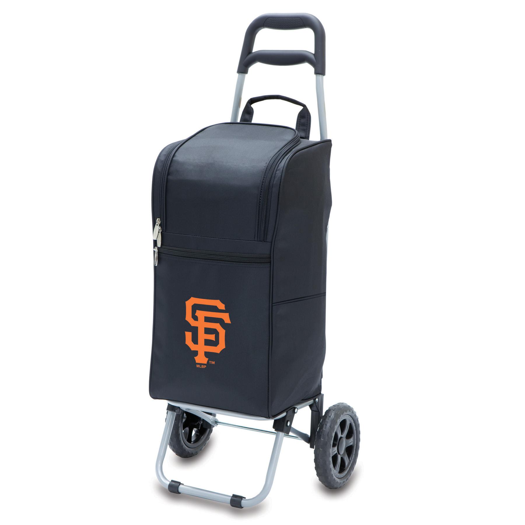Picnic Time Cart Cooler - MLB - Black