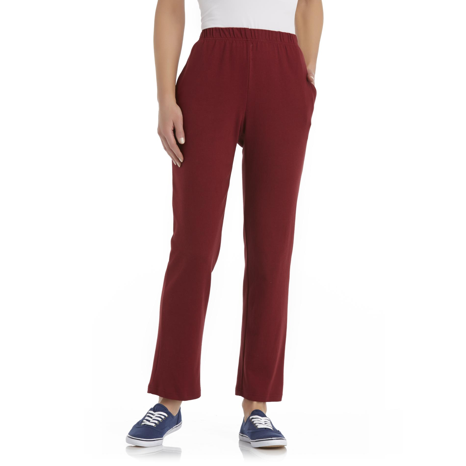 Basic Editions Women's Pull On Knit Pants at Kmart.com
