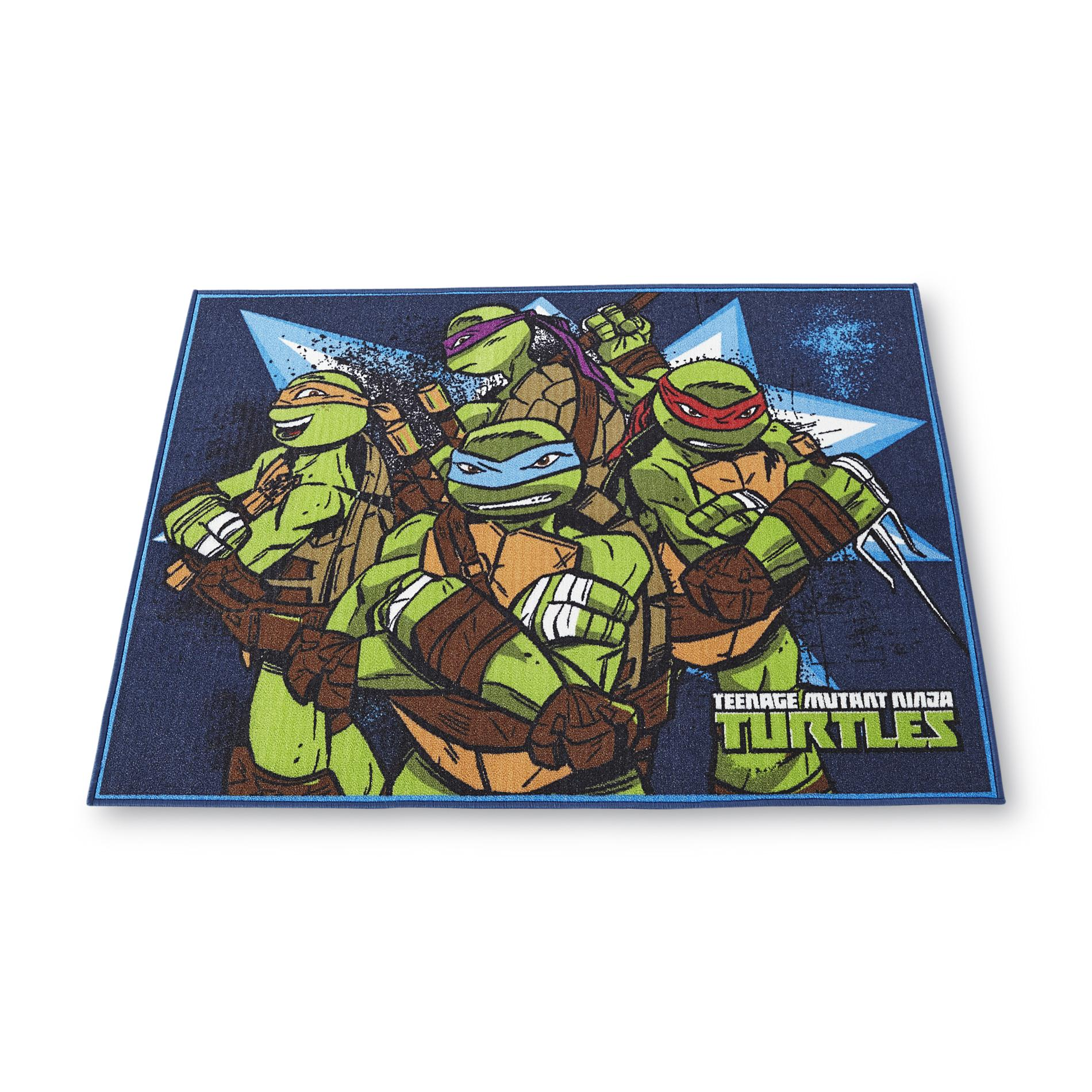 Image of Nickelodeon 40 x 45 Area Rug - Teenage Mutant Ninja Turtles, Size: 3 ft. x 5 ft., Green