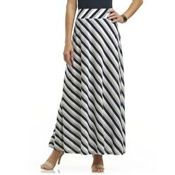 Jaclyn Smith Women's Knit Maxi Skirt - Striped at Kmart.com
