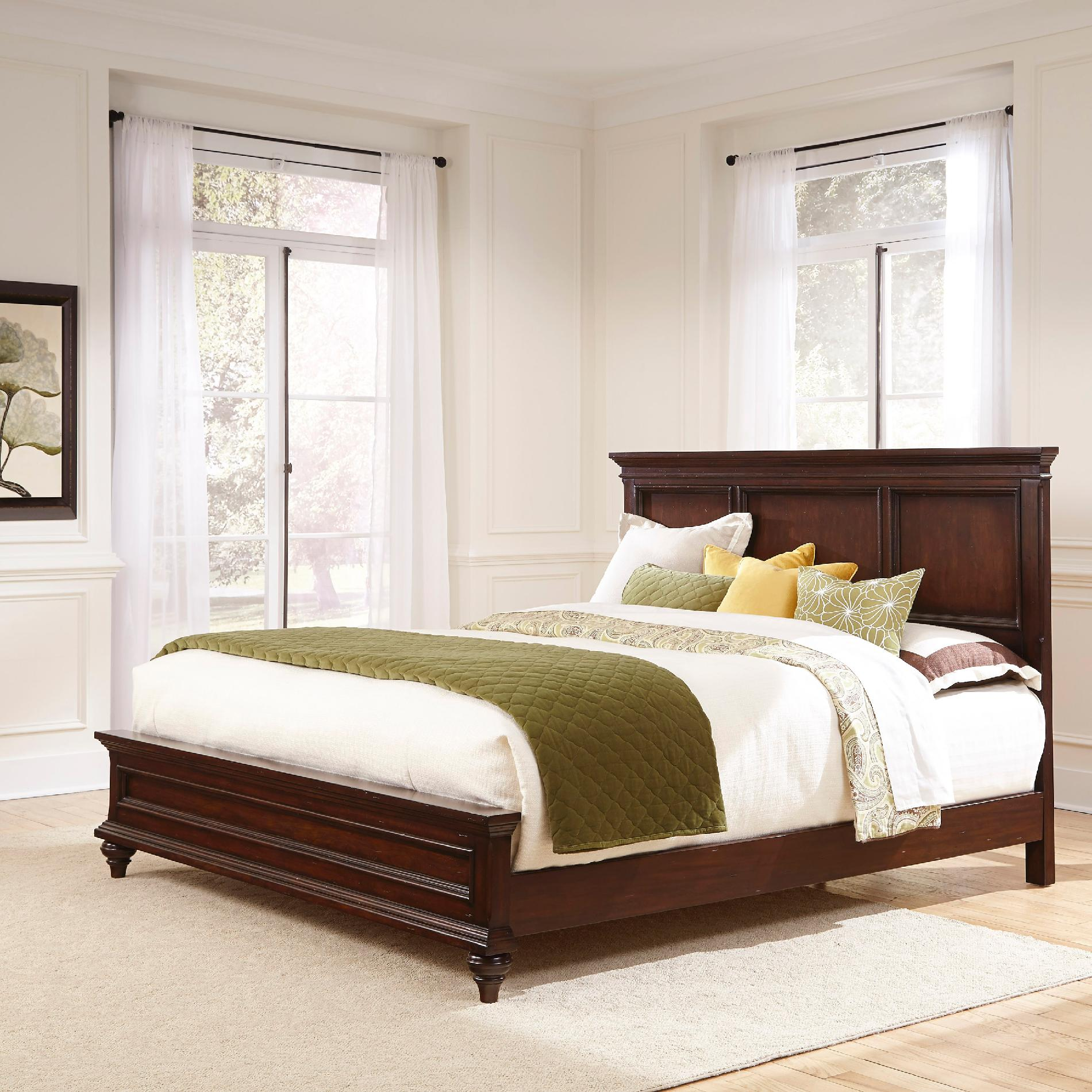 Home styles colonial classic king bed for Colonial beds