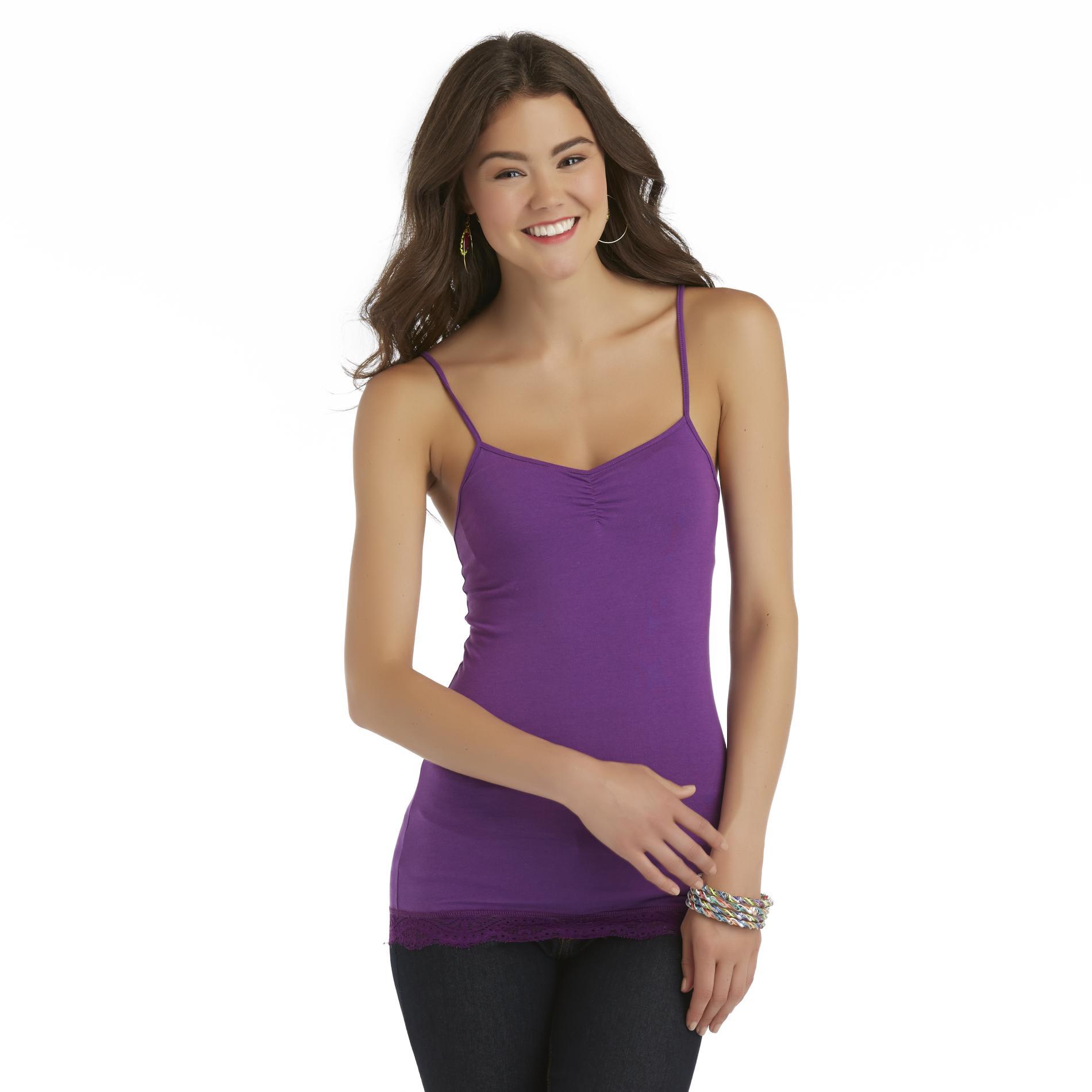 Seventeen Junior's Shirred Lace-Trim Cami at Sears.com