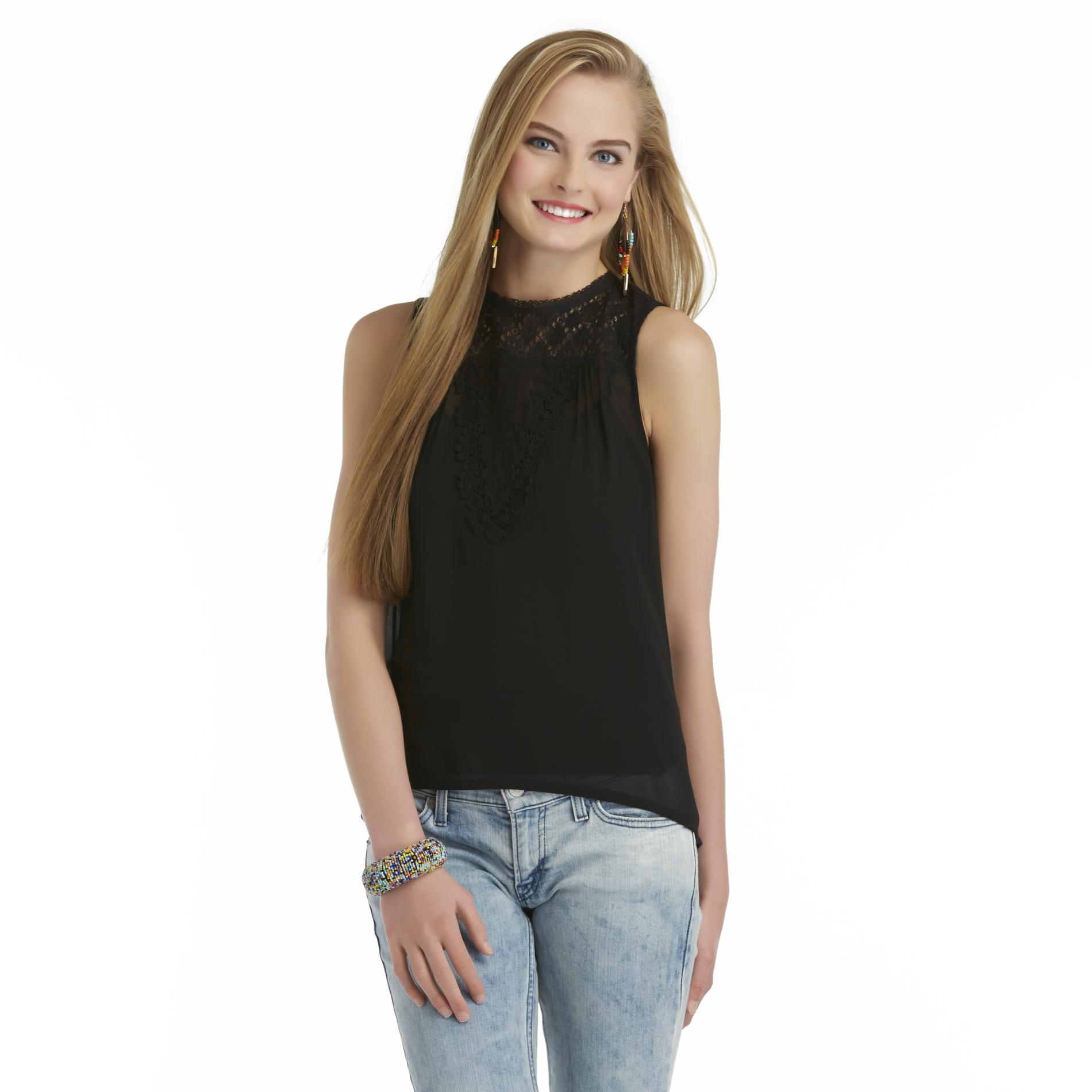 Seventeen Junior's Sheer High-Low Top at Sears.com