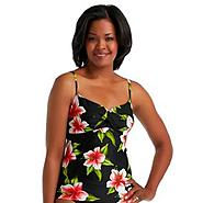 Women's Twist-Front Tankini Top - Tropical