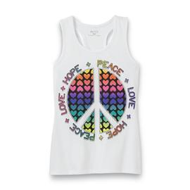 Piper Girl's Glitter Racerback Tank Top - Peace at Kmart.com
