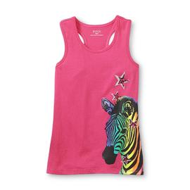 Piper Girl's Glitter Racerback Tank Top - Zebra at Kmart.com