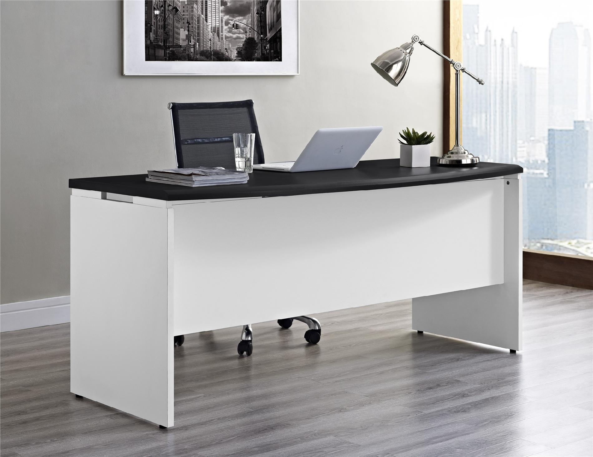 Altra Dorel Home Furnishings Pursuit White and Gray Executive Office Desk