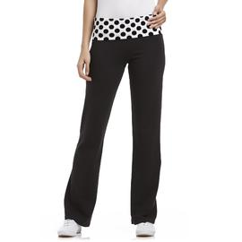 Joe Boxer Fold-Over Bootcut Yoga Pants - Polka Dots at Sears.com