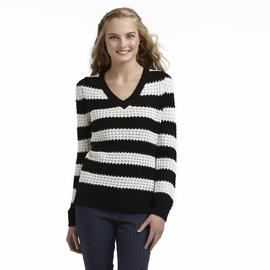 Bongo Junior's Waffle Knit High-Low Sweater - Striped at Sears.com
