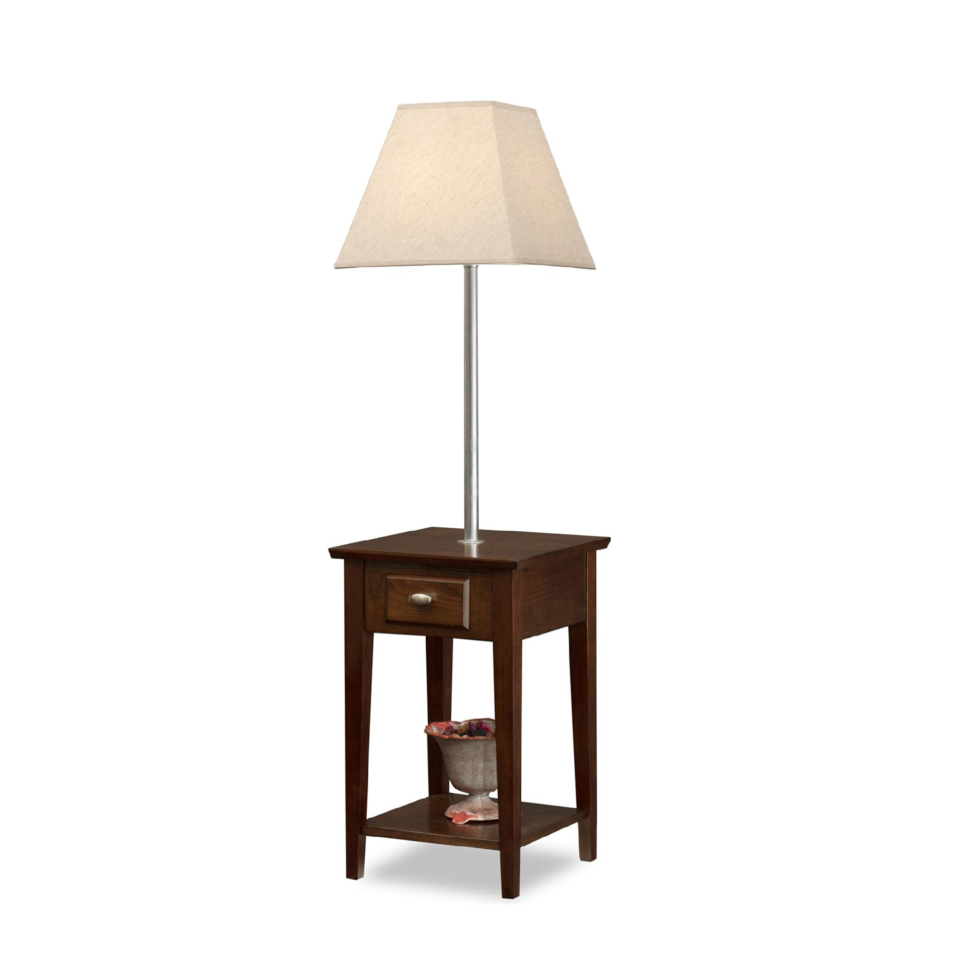 Leick Leick Chocolate Square Lamp End Table