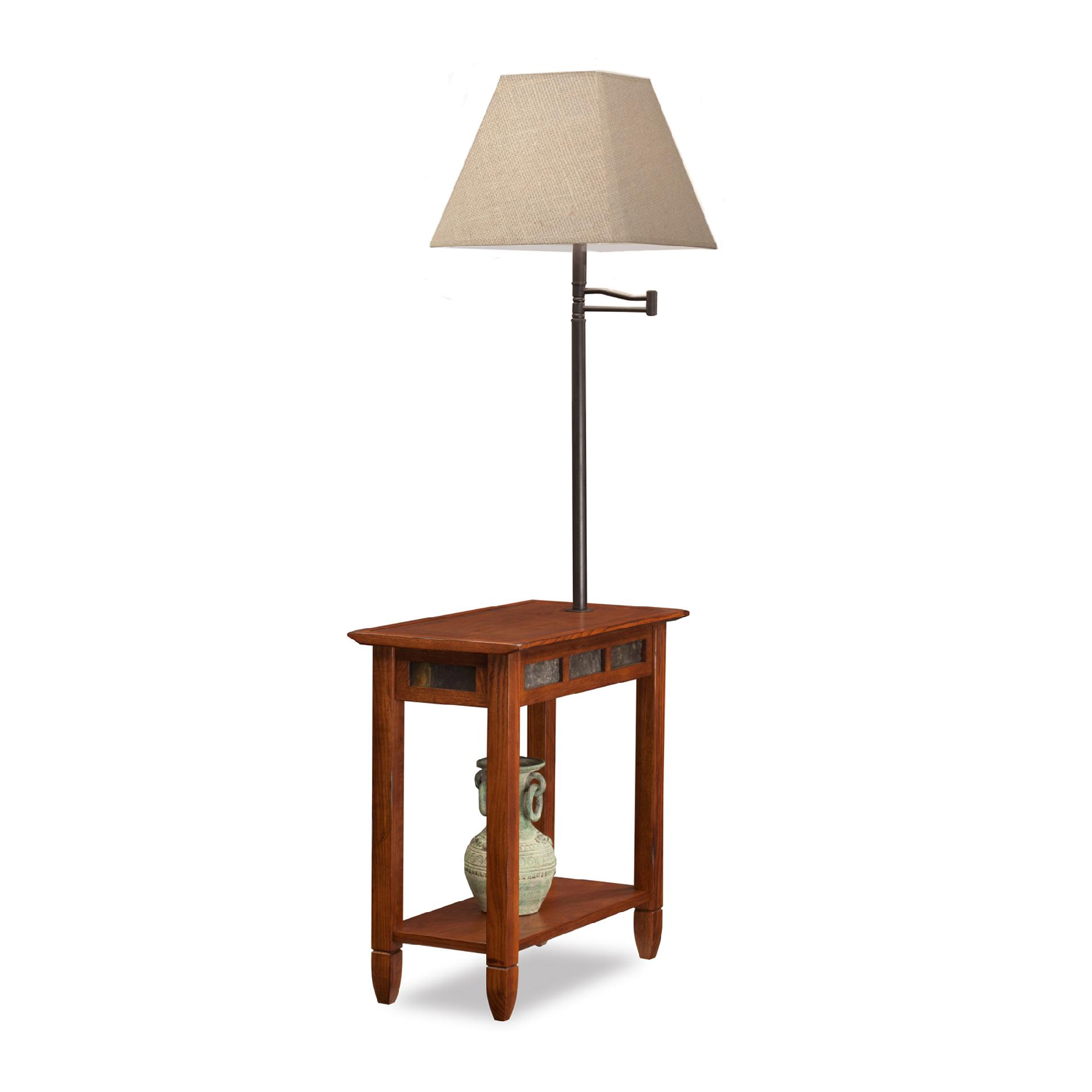 Leick Leick Rustic Slate Chairside Lamp End Table