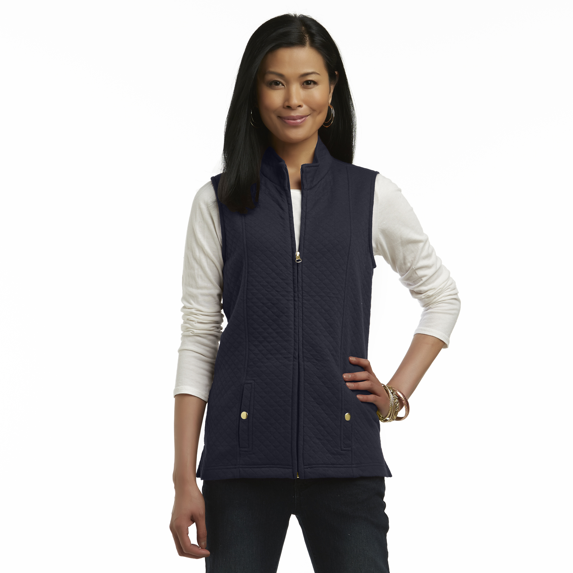 Basic Editions Women's Quilted Knit Vest at Kmart.com