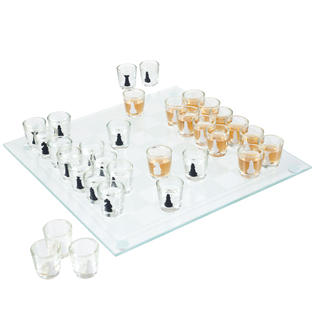 Trademark Games Shot Glass Drinking Game Chess Set - 32 Pieces