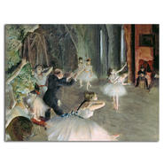 Trademark Fine Art Edgar Degas 'The Rehearsal of the Ballet on Stage' Canvas at Kmart.com