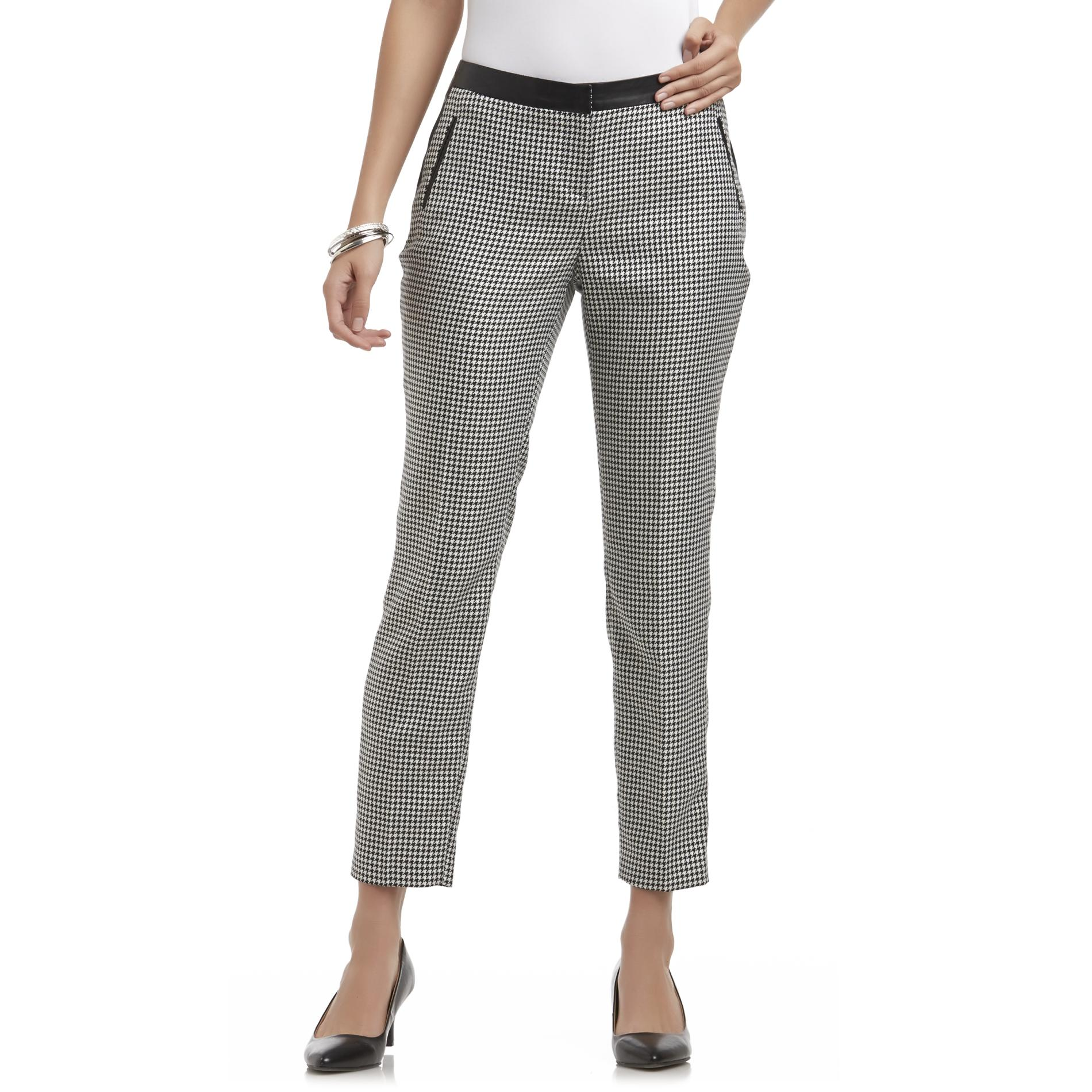 Attention Women's Slim Fit Pants - Houndstooth at Kmart.com