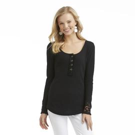 Bongo Junior's Thermal Henley Top - Lace Yoke at Sears.com