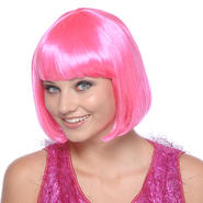 Totally Ghoul Bob Pink Wig Halloween Accessory at Kmart.com