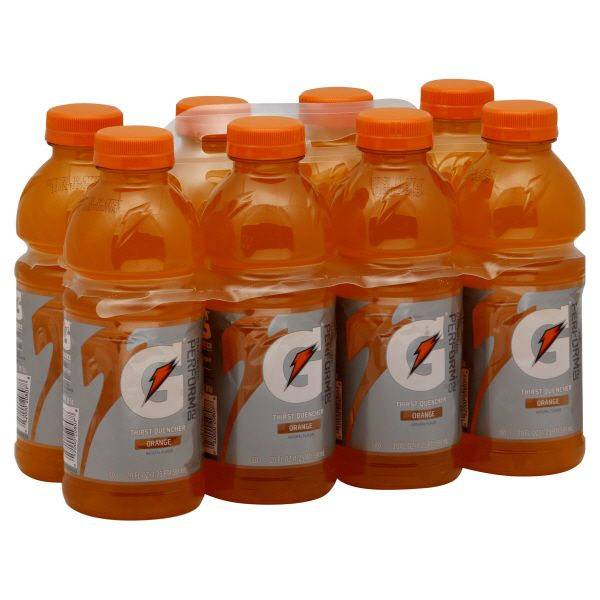 Gatorade G 02 Perform Thirst Quencher, Orange, 8 - 20 fl oz (1.25 pt) 591 ml bottles