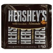 Hershey's Milk Chocolate Bars with Almonds, 6 - 1.45 oz (41 g) bars [8.7 oz (246 g)] at Kmart.com