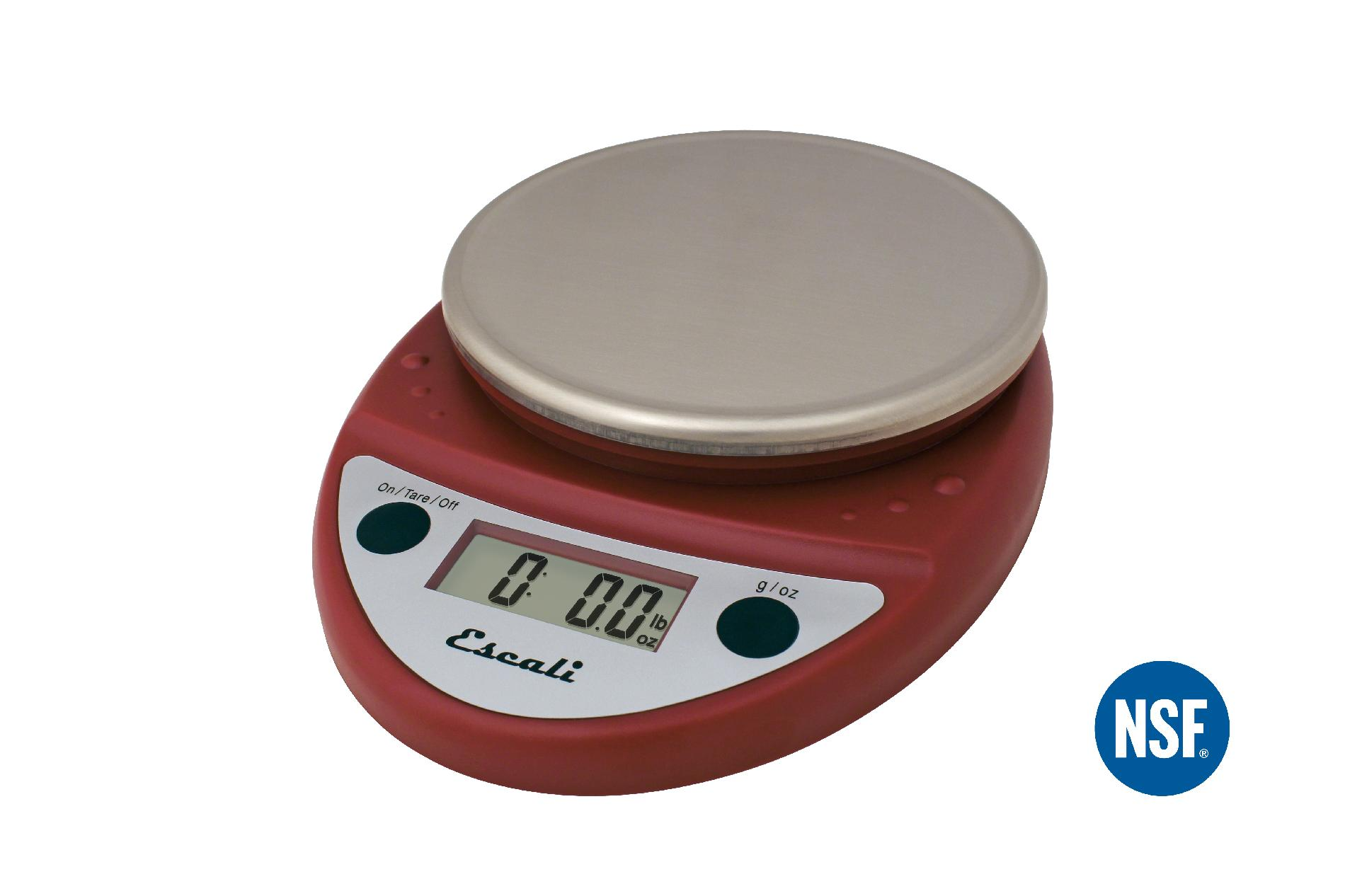Escali Primo P115WR Digital Kitchen Food Scale-Warm Red