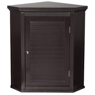 Elegant Home Elegant Home Fashions Slone Corner Wall Cabinet with 1 Shutter Door